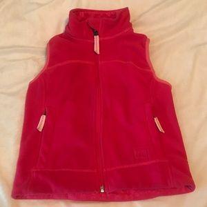 REI Kids Pink Fleece Zip Up Vest Zippered pockets